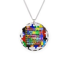 asd traits fut no white Necklace Circle Charm