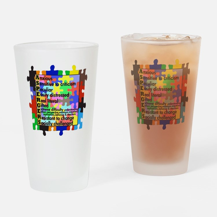 asd traits fut no white Drinking Glass