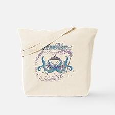 Cystic Fibrosis Princess Warrior Blue Tote Bag