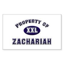 My heart belongs to zachariah Sticker (Rectangular