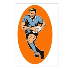 rugby player running with Postcards (Package of 8)