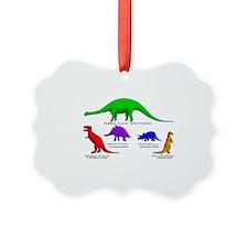 Colored Dinos Ornament