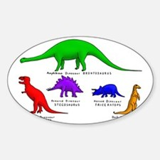 Colored Dinos Sticker (Oval)
