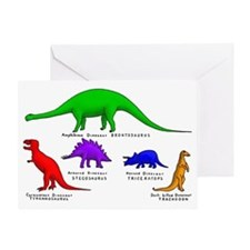 Colored Dinos Greeting Card