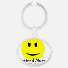 Retired Nurse Oval Keychain