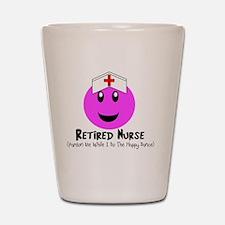 Retired Nurse PINK SMILEY HAPPY DANCE Shot Glass