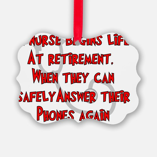 Retired Nurse RED Answer Phones Ornament