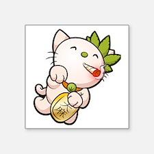 "Mellow Kitty Square Sticker 3"" x 3"""