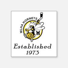 "Established 1973 Square Sticker 3"" x 3"""