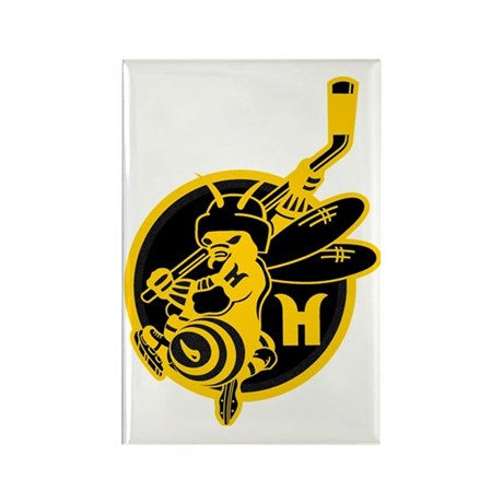 Hornets Black and Gold Rectangle Magnet