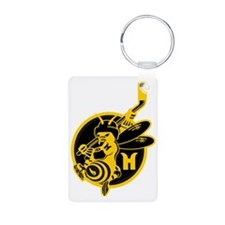 Hornets Black and Gold Keychains