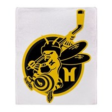 Hornets Black and Gold Throw Blanket