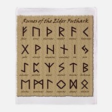 All-Runes-flat_10x10 Throw Blanket