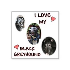 "I love my blk gh shirt 2010 Square Sticker 3"" x 3"""