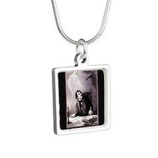 vintage-the-raven_13-5x18 Silver Square Necklace