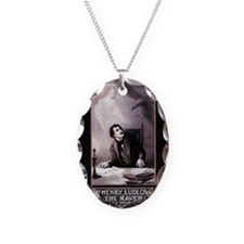 vintage-the-raven_12x18 Necklace Oval Charm