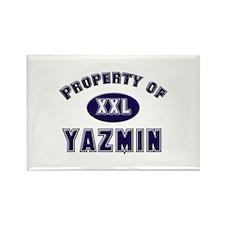 My heart belongs to yazmin Rectangle Magnet