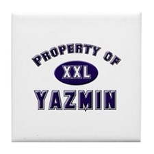 My heart belongs to yazmin Tile Coaster