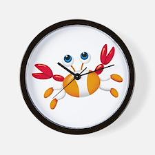Bug-eyed Crab Wall Clock