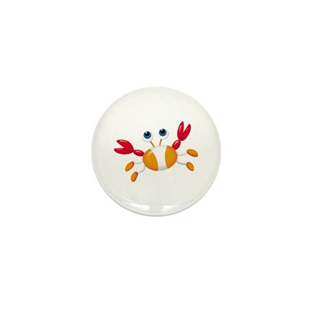 Bug-eyed Crab Mini Button (10 pack)