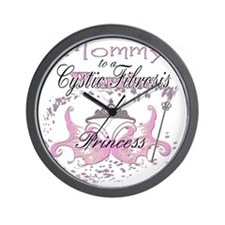 Mommy to a Cystic Fibrosis Warrior Prin Wall Clock
