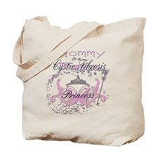 Mommy to a Cystic Fibrosis Warrior Prince Tote Bag