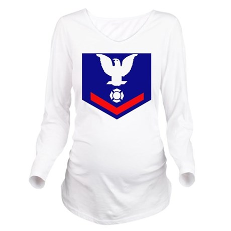 USCG-Rank-FI3 Long Sleeve Maternity T-Shirt