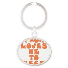 love-to-pieces Oval Keychain