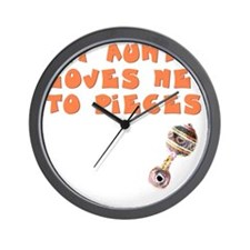 aunt-loves-to-pieces Wall Clock
