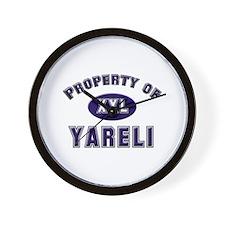 My heart belongs to yareli Wall Clock
