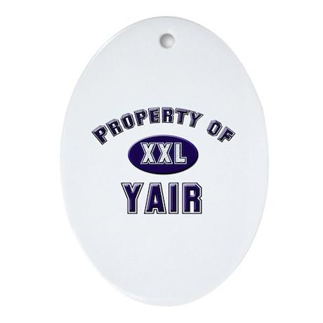 My heart belongs to yair Oval Ornament