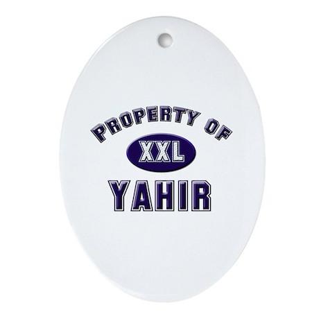 My heart belongs to yahir Oval Ornament