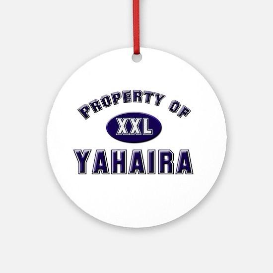 My heart belongs to yahaira Ornament (Round)
