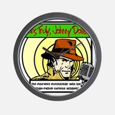 Yours Truly Johnny Dollar color Wall Clock
