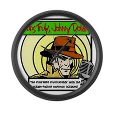 Yours Truly Johnny Dollar color Large Wall Clock