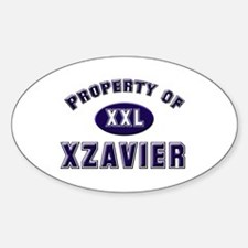 My heart belongs to xzavier Oval Decal