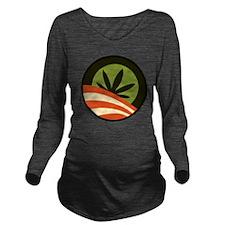 Hope Leaf Long Sleeve Maternity T-Shirt