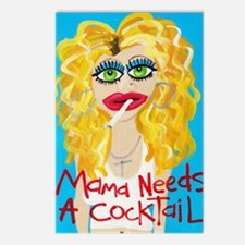 cocktail blonde Postcards (Package of 8)