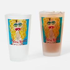cocktail blonde Drinking Glass