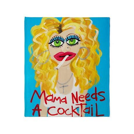 cocktail blonde Throw Blanket