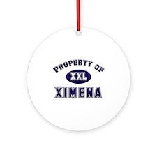 My heart belongs to ximena Ornament (Round)