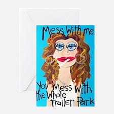 trailre park brunette Greeting Card