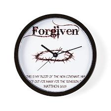forgivencrownred Wall Clock