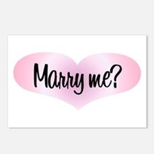 Marry Me? Pink Heart Postcards (Package of 8)
