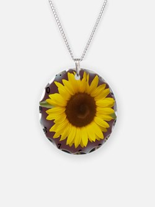 sunflower wall clock2 Necklace
