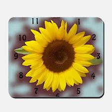 sunflower wall clock2 Mousepad
