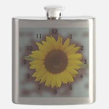 sunflower wall clock2 Flask