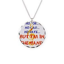 no job Necklace Circle Charm