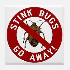 stink bug-go-away Tile Coaster