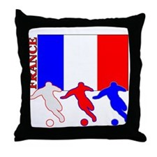 Soccer France Throw Pillow
